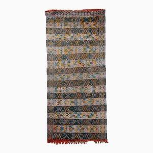 Vintage Handmade Tunisian Flat Weave Kilim Rug, 1950s