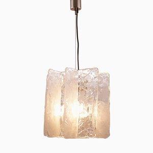 Lámpara de techo de cristal de hielo de Mazzega, años 60