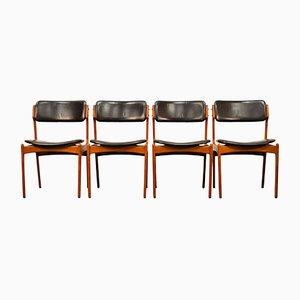 Chaises de Salon Modèle 49 en Teck par Erik Buch pour Odense Mobelfabrik, 1960s