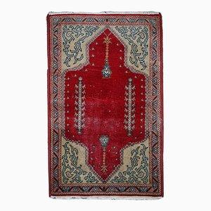 Alfombra Konya turca vintage hecha a mano, años 20