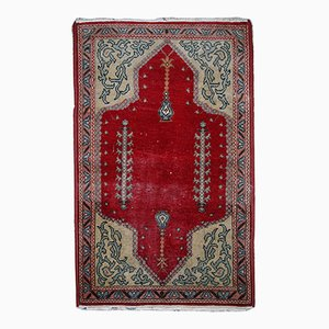 Vintage Handgefertigter Türkischer Konya Teppich, 1920er