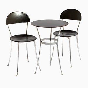 Tavolo e due sedie Tonietta di Enzo Mari per Zanotta, anni '80