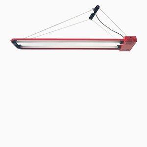 Lampada a sospensione vintage fluorescente di Gian N. Gigante per Zerbetto, anni '80