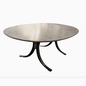 Dining Table with Marble Top by Osvaldo Borsani for Tecno, 1960s