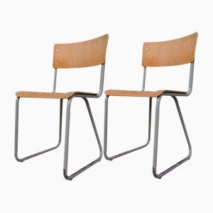 Industrielle Stühle von Willem Hendrik Gispen für Gispen, 1950er, 2er Set
