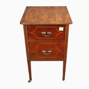 Table de Chevet Vintage en Acajou