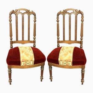 Sillas Napoleon III antiguas. Juego de 2