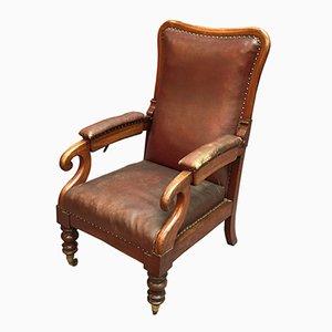 Butaca reclinable victoriana de caoba