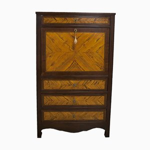 Walnut & Olive Wood Inlaid Liberty Secretaire, 1920s