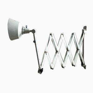Lámpara acordeón grande en blanco de Curt Fischer para Midgard