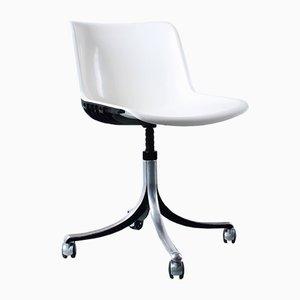 Vintage White Modus Swiveling Aluminium Chair by Osvaldo Borsani for Tecno