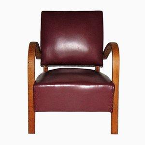 Italienischer Sessel aus Skai, 1950er