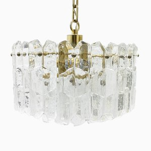 Glass and Brass Chandelier from Kalmar, 1960s