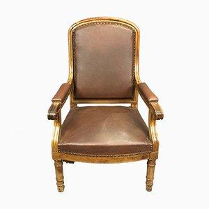 Vintage Kirschholz Sessel