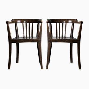 Vintage Bugholz Stühle, 2er Set