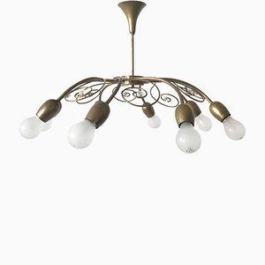 Lámpara de araña con espirales y 8 brazos de Lobmeyr, años 50