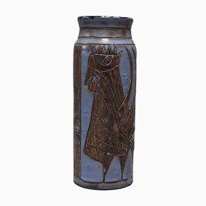 Große Keramik Vase von Jacques Pouchain für Atelier Dieulefit, 1950er