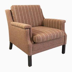 Mid-Century Danish Brown Armchair, 1970s