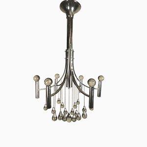 Lustre à 6 Lampes par Gaetano Sciolari, Italie, 1960s