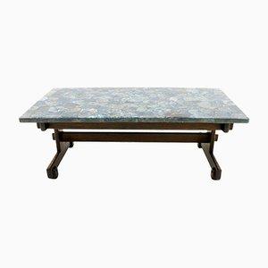 Mesa de centro con superficie de mosaico de piedra apatita de Sergio Rodrigues, 1964