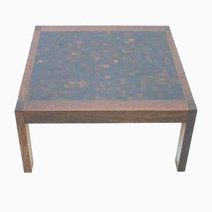 Mesa de centro de wengué con mosaico de Dieter Wäckerlin para Idealheim, años 60
