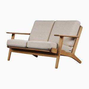 GE-290 2-Sitzer Sofa aus Eiche von Hans J. Wegner für Getama