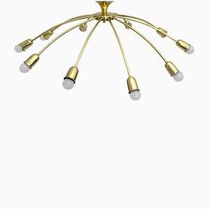 Lampada da soffitto a ragno di J. T. Kalmar, anni '50