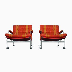 Swedish Karin Easy Chairs by Bruno Mathsson for Dux, 1960s, Set of 2