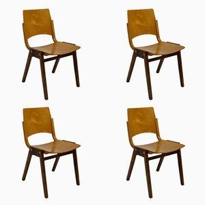 Stapelbare P7 Stühle von Roland Rainer für Emil & Alfred Pollak, 1950er, 4er Set