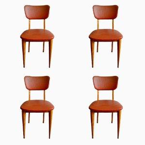 Sedie da pranzo, anni '60, set di 4