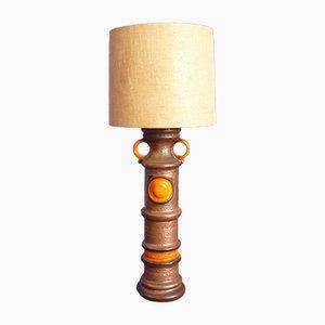 Große Keramik Stehlampe, 1960er