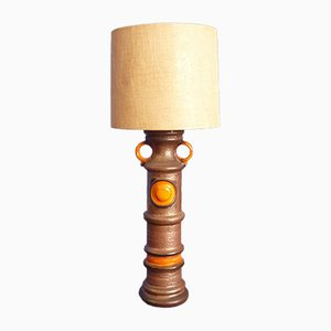 Lámpara de pie grande de cerámica, años 60