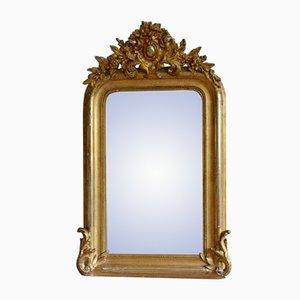 Antiker Französischer Spiegel mit Goldrahmen