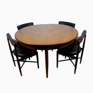 Tavolo e 4 sedie da pranzo di Ib Kofod-Larsen per G-Plan, anni '60