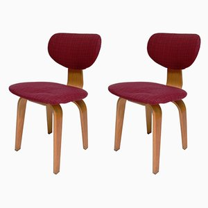 Mid-Century SB02 Dining Chairs by Cees Braakman for Pastoe, Set of 2