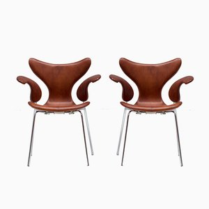 Chaises Mouette par Arne Jacobsen, 1960s, Set de 2