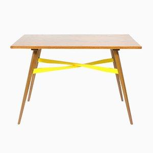 Tavolino da caffè con dettagli gialli, anni '70