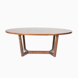 Table Basse Ovale de Dřevotvar Holešov, 1980s