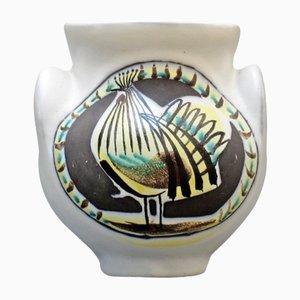 Vase avec Coq en Céramique par Roger Capron, 1950s