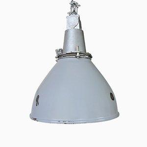 Industrielle Britische Deckenlampe, 1960er