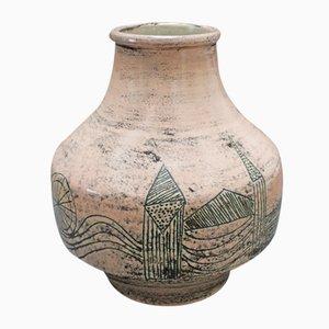 Korallenfarbige Vase von Jacques Blin, 1978