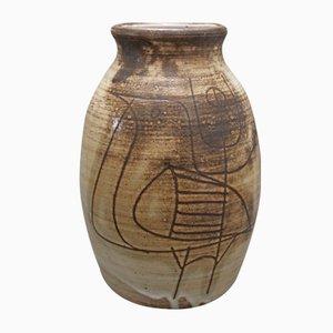 Ceramic Vase by Jacques Pouchain, 1960s