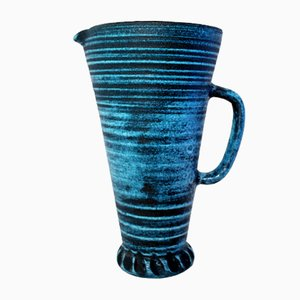 Large Gauloise Series Ceramic Pitcher from Accolay, 1960s