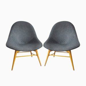 Vintage Scandinavian Lounge Chairs, Set of 2