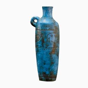Jarrón azul de Jacques Blin, años 50