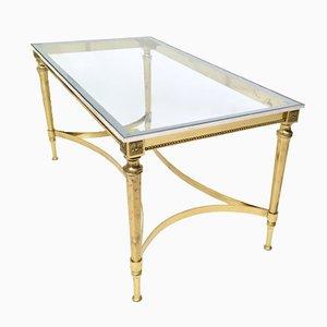Tavolino da caffè Mid-Century in metallo e vetro