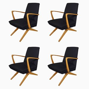 Scissor Chairs, 1950s, Set of 4