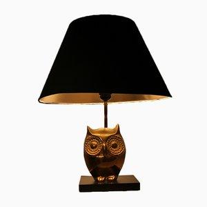 Lampada da tavolo a forma di gufo, anni '70