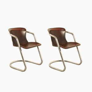 Set de Chaises de Salon en Chrome par Willy Rizzo pour Cidue, 1970s, Set de 2