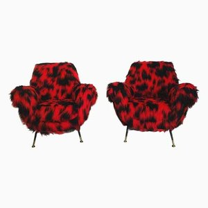 Lounge Chairs by Gigi Radice for Minotti, 1950s, Set of 2
